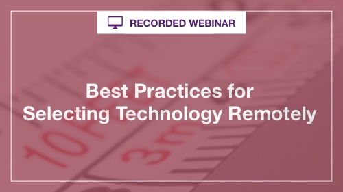 Remote Technology Selection Tips