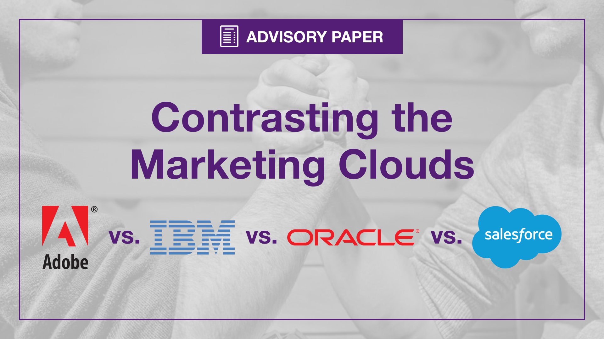 Contrasting Marketing Clouds
