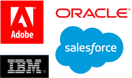 Big Four MarTech Cloud Suite Vendor Logos