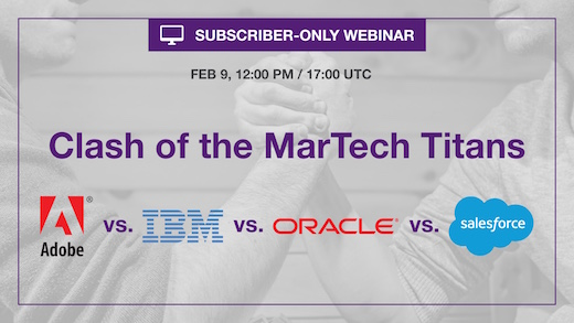 MarTech Oracle IBM Eloqua Marketo