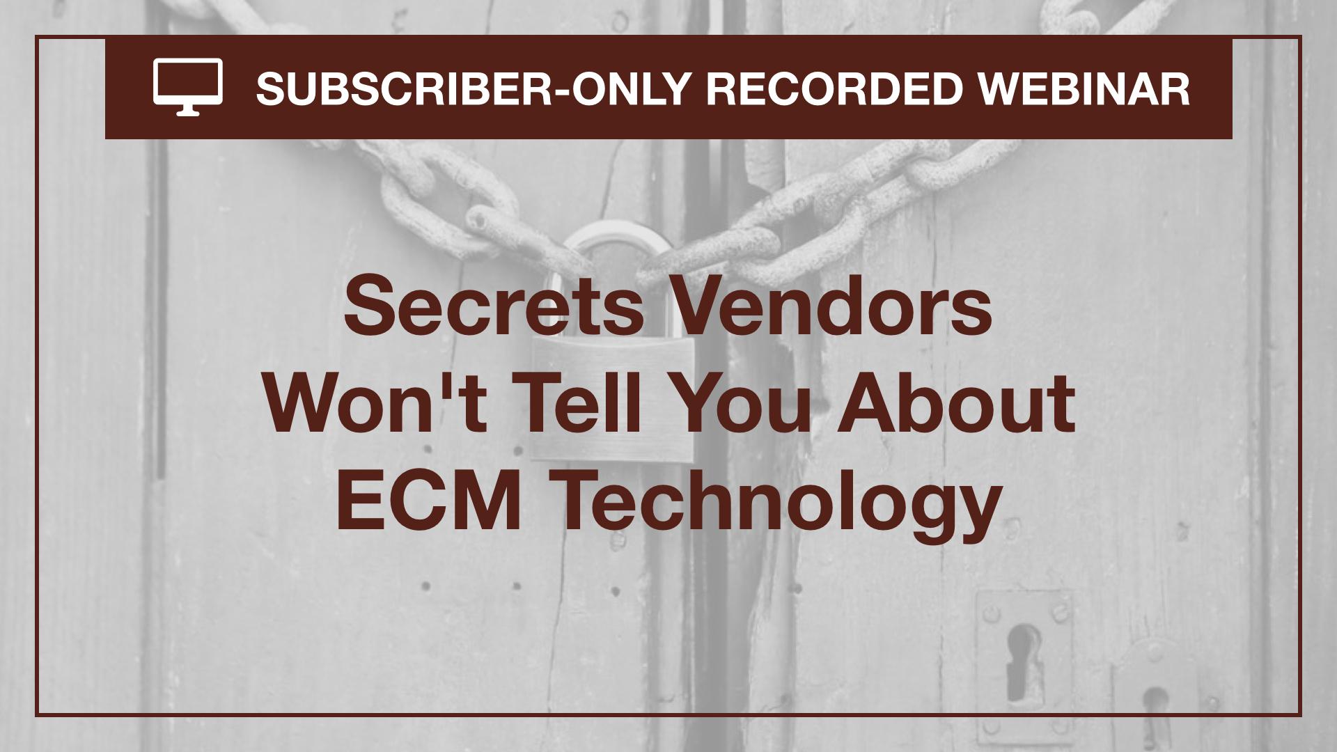ECM Secrets