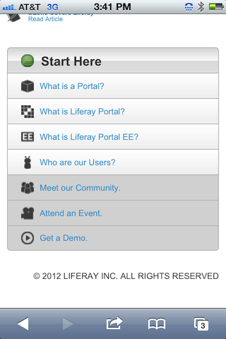 Liferay Mobile third screen