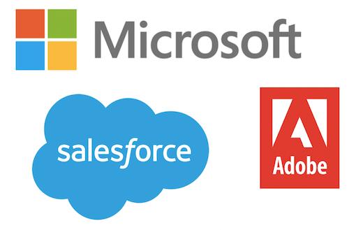 MS, Adobe, Salesforce Logos