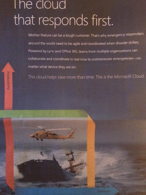 Microsoft loopy cloud ad