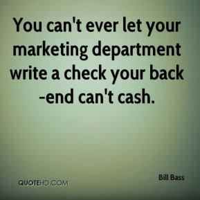 Famous Bill Bass quote