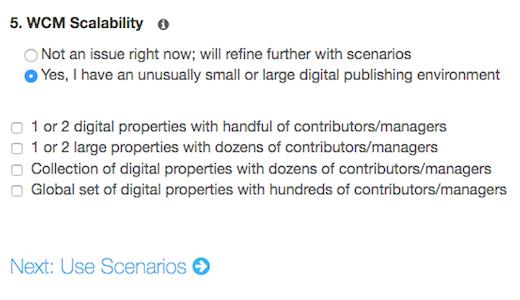 WCM Scalability